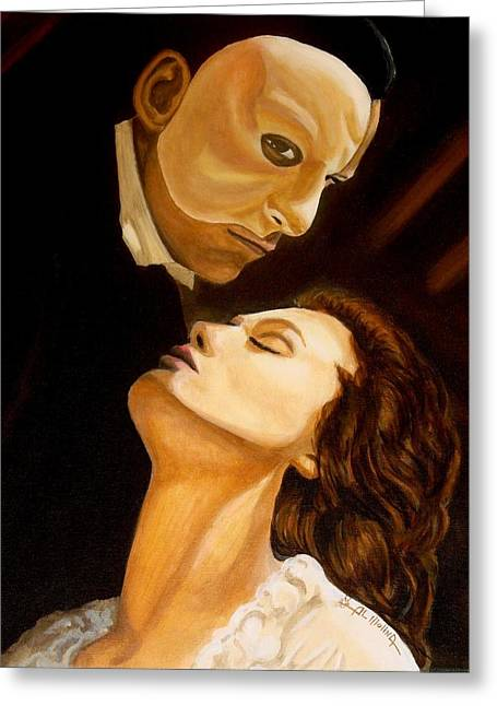 Broadway Musical Greeting Cards - Music of the Night Greeting Card by Al  Molina