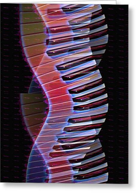 Musical Dna Greeting Card by Bill Cannon