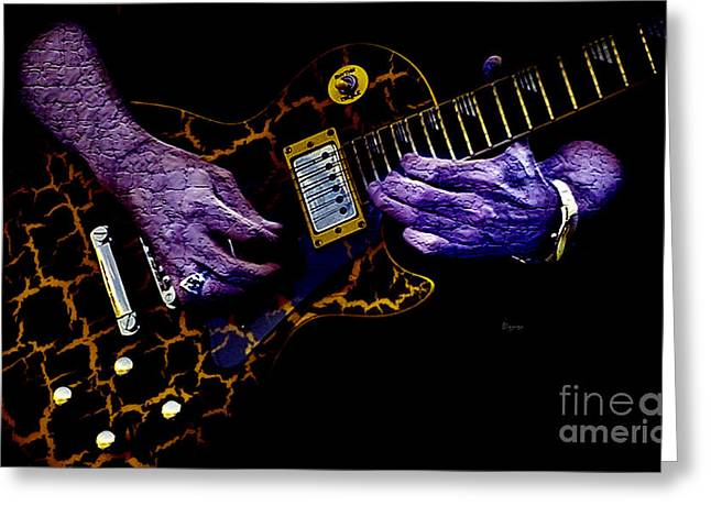 Playing Musical Instruments Digital Art Greeting Cards - Musical Grunge  Greeting Card by Steven  Digman