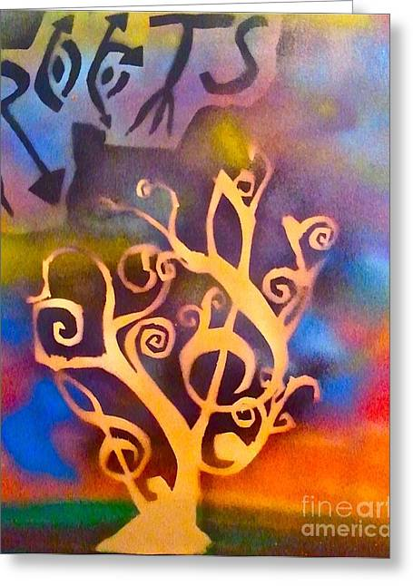 Metaphysics Greeting Cards - Musical Roots Greeting Card by Tony B Conscious