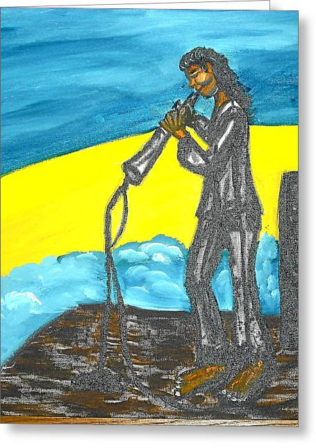 Set Pastels Greeting Cards - Musician Greeting Card by BJ Abrams