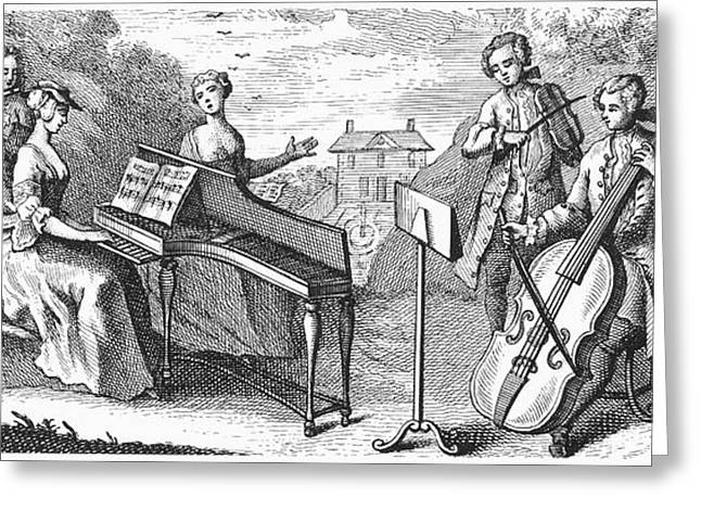 Music Stand Greeting Cards - Musicians, 1773 Greeting Card by Granger