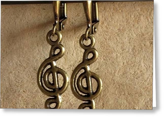 Musique Greeting Card by Jan Brieger-Scranton