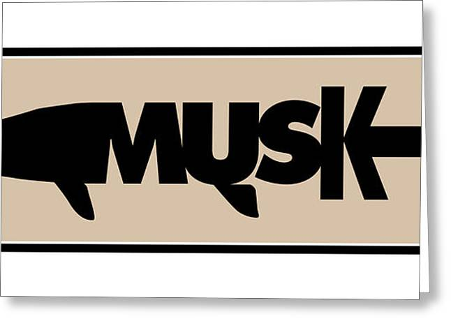Musky Greeting Card by Geoff Strehlow