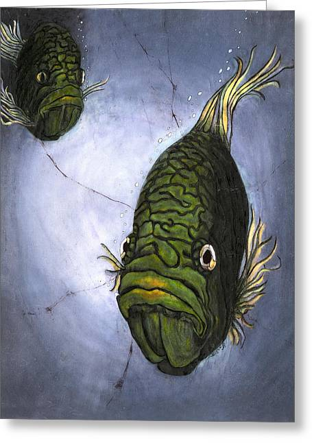 Sealife Posters Greeting Cards - Must Love Mohawks Greeting Card by Shari Carlson