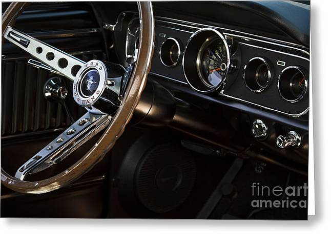 Steering Greeting Cards - Mustang Dash Greeting Card by Dennis Hedberg