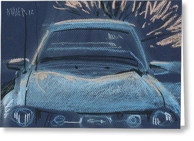Plein Air Pastels Greeting Cards - Mustang Greeting Card by Donald Maier