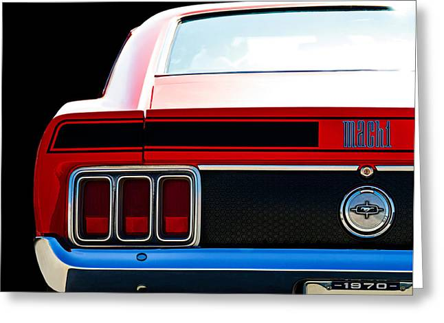 Mach Digital Art Greeting Cards - Mustang Mach 1 Greeting Card by Douglas Pittman