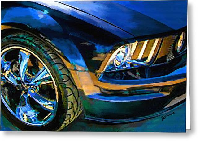 Wheels Greeting Cards - Mustang Greeting Card by Robert Smith