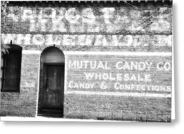 Ghost Signs Greeting Cards - Mutual Candy Company Greeting Card by Jan Amiss Photography