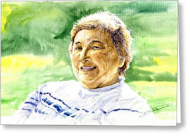 Figurativ Greeting Cards - My aunt Rose Greeting Card by Yuriy  Shevchuk
