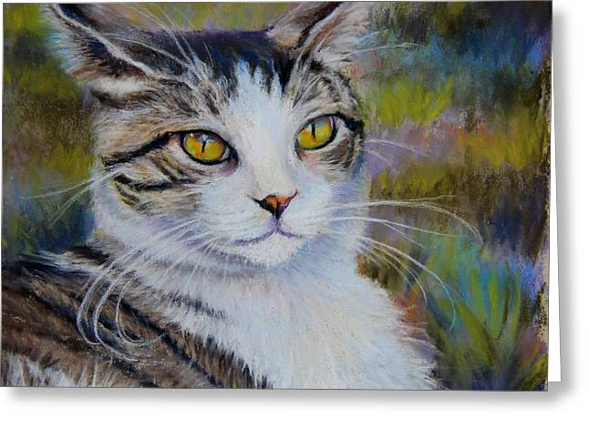 Feline Pastels Greeting Cards - My Beautiful Cat Greeting Card by Susan Jenkins