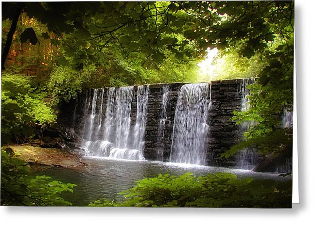Beautiful Creek Greeting Cards - My Beautiful Waterfall Greeting Card by Bill Cannon