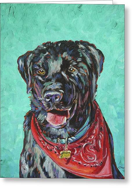 Black Labrador Retreiver Greeting Cards - My Best Friend Greeting Card by Christie Michael