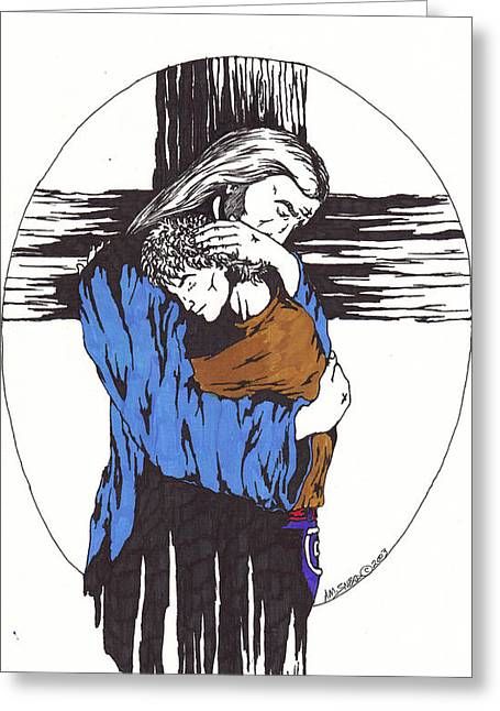 Born Again Drawings Greeting Cards - My Child Greeting Card by Audrey Snead