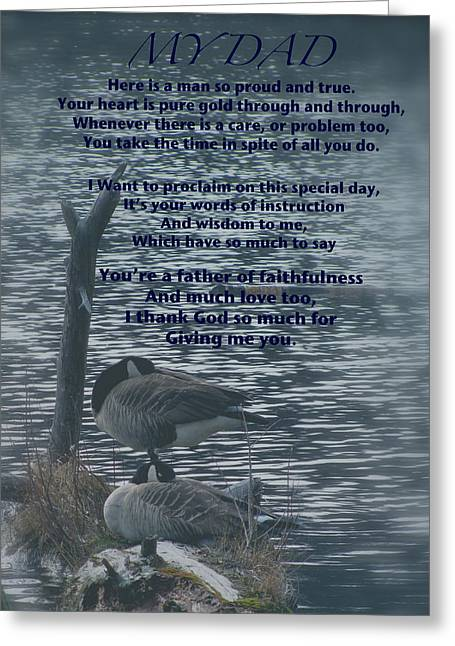To My Father Greeting Cards - My Dad Poem Greeting Card by Debra     Vatalaro