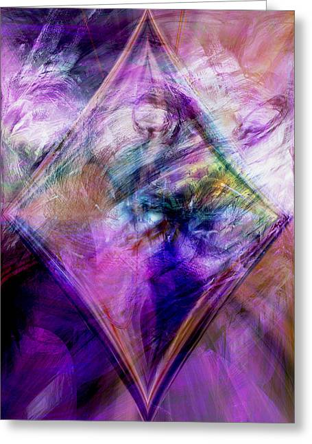 Energy Art Movement Greeting Cards - My Diamond Greeting Card by Linda Sannuti