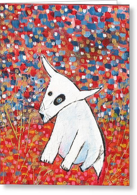 My Dog Blackie Greeting Card by Maureen Rocksmoore