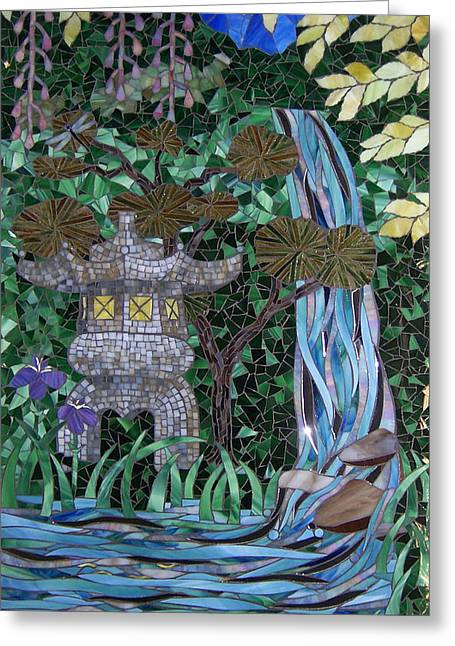 Japan Glass Art Greeting Cards - My Dream Goes Wandering Greeting Card by Barbara Benson Keith