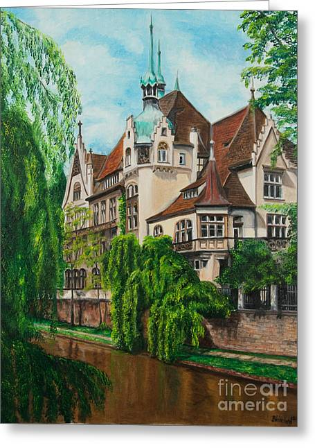 Village In France Greeting Cards - My Dream House Greeting Card by Charlotte Blanchard