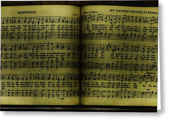 Postal Greeting Cards - My Father reigns Eternal and Memories Song Book - nostalgia - vintage  Greeting Card by Lee Dos Santos