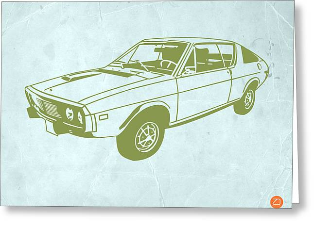 Modern Drawings Greeting Cards - My Favorite Car 2 Greeting Card by Naxart Studio