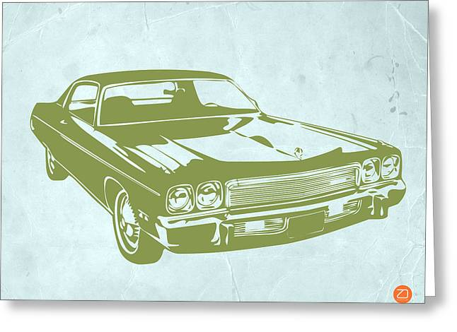 Tape Greeting Cards - My Favorite Car 5 Greeting Card by Naxart Studio