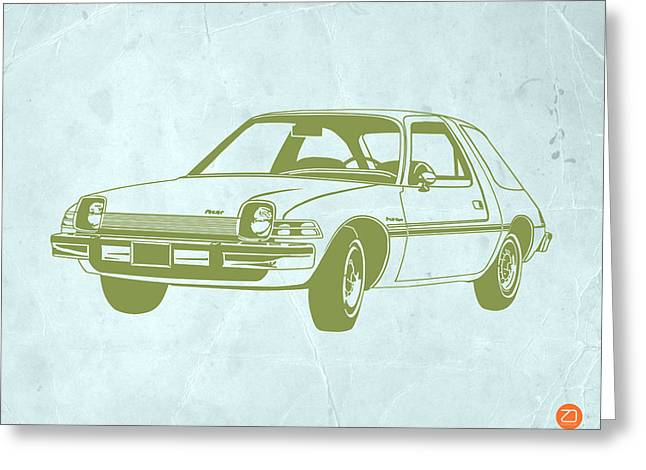 Funny Drawings Greeting Cards - My Favorite Car  Greeting Card by Naxart Studio
