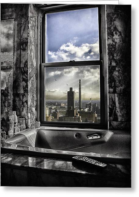 River View Greeting Cards - My favorite channel is Manhattan View Greeting Card by Madeline Ellis