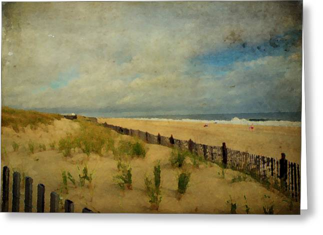 Sand Fences Greeting Cards - My Favorite Place Greeting Card by Trish Tritz