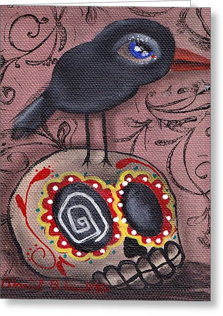 Gothic Surreal Greeting Cards - My Friend Greeting Card by  Abril Andrade Griffith