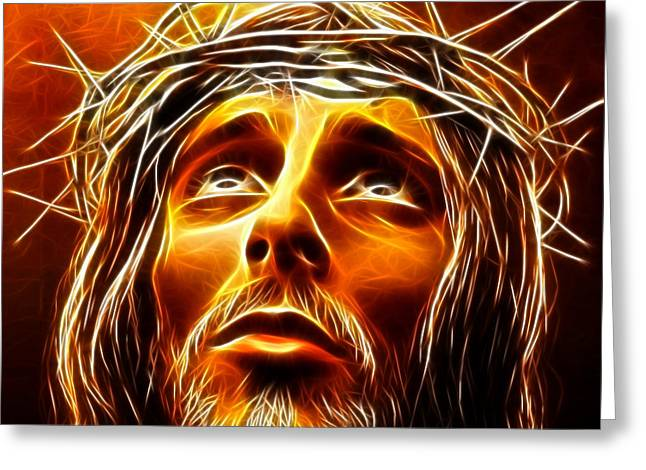 Jesus The King Greeting Cards - My God  Why Have You Abandoned Me Greeting Card by Pamela Johnson