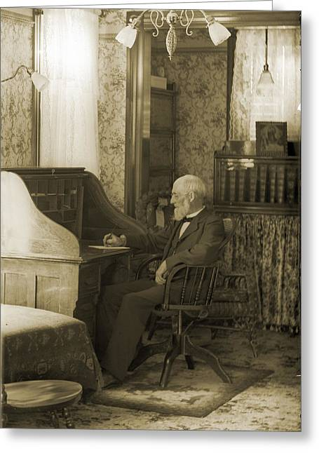 My Great-great-grandfather 1885 Greeting Card by Jan W Faul