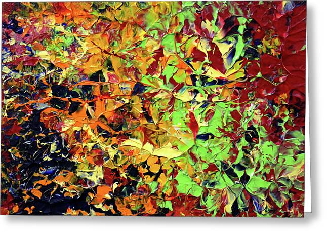 Photography Lightning Paintings Greeting Cards - My Heart only in Flowers Greeting Card by James David Mancini