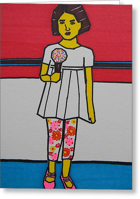 Canadian Photographer Drawings Greeting Cards - My Ice Cream  Greeting Card by Marwan George Khoury