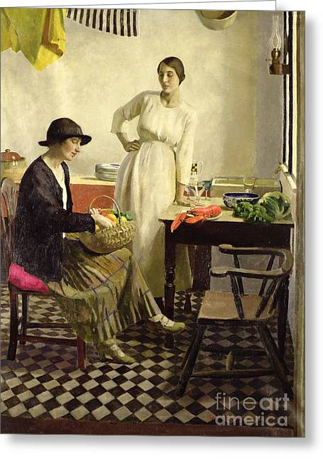 Basket Pot Greeting Cards - My kitchen Greeting Card by Harold Harvey