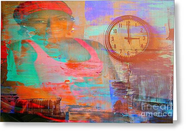 My Life As Time Goes By Greeting Card by Fania Simon