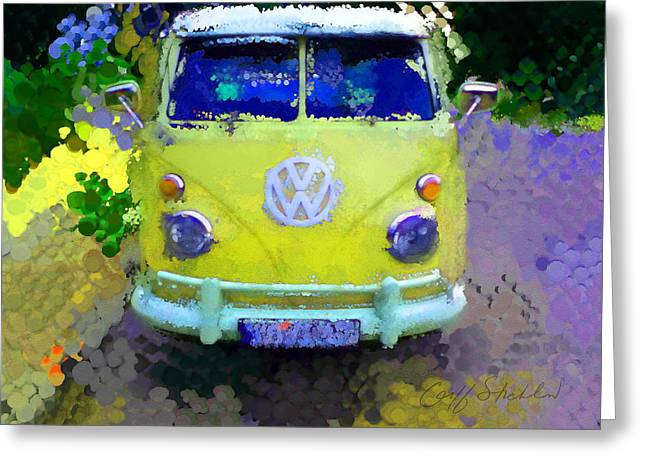 Magic Bus Greeting Cards - My Magic Bus Greeting Card by Geoff Strehlow