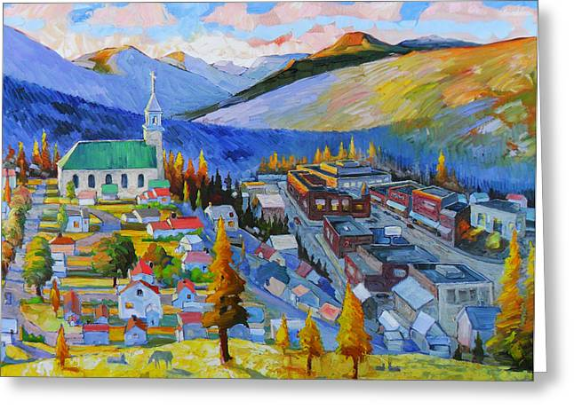 Recently Sold -  - Gloaming Greeting Cards - My Mountain Home Greeting Card by Gregg Caudell