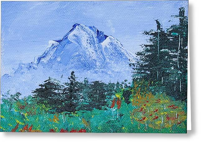 Print On Acrylic Greeting Cards - My Mountain Wonder Greeting Card by Jera Sky