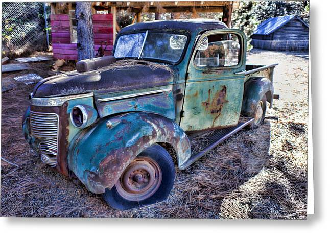 Pickup Truck Door Greeting Cards - My old truck Greeting Card by Garry Gay