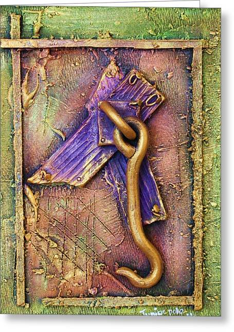 D Ceramics Greeting Cards - My Old Window Greeting Card by Junior Polo