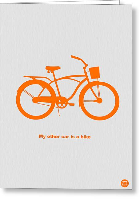 Bicycling Greeting Cards - My other car is bike Greeting Card by Naxart Studio