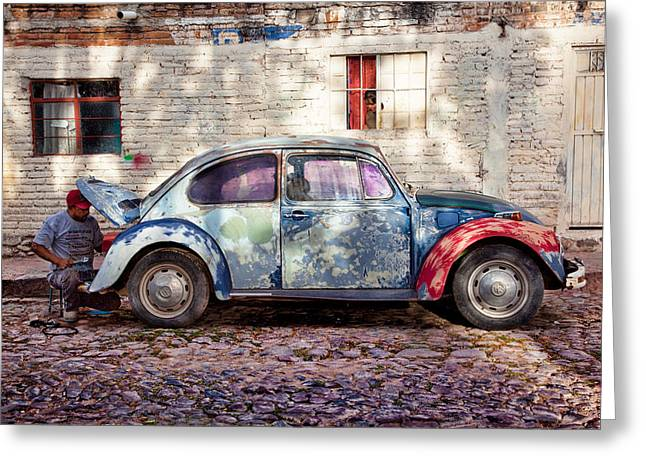 Cobble Stone Greeting Cards - My Ride Greeting Card by John Wong