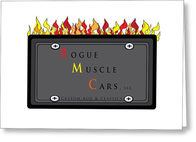 Rogue Greeting Cards - My Rogue Muscle Car Logo Greeting Card by Teri Schuster