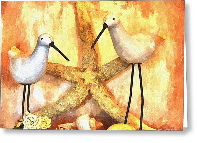 Starfish Posters Greeting Cards - My Sandpipers Greeting Card by Marsha Heiken
