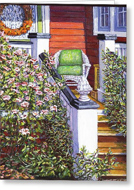 Side Porch Greeting Cards - My Side Porch Greeting Card by Thomas Michael Meddaugh