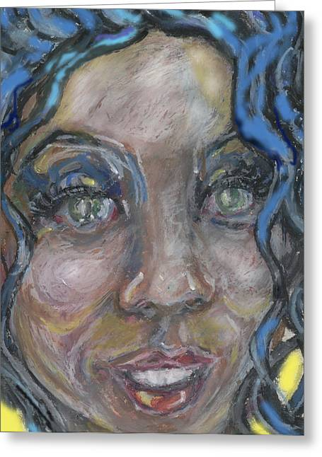 Posters Of Women Mixed Media Greeting Cards - My Sista Greeting Card by Derrick Hayes
