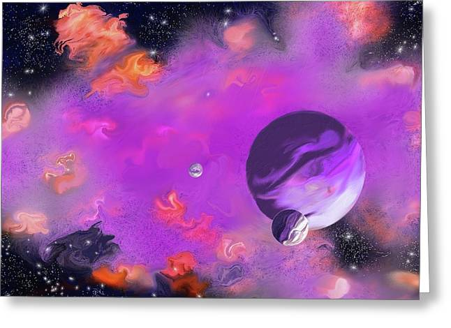 Art By Methune Hively Greeting Cards - My Space Greeting Card by Methune Hively