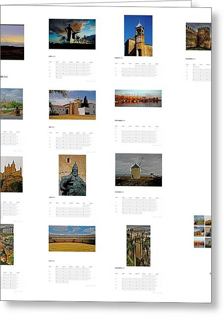 Consuegra Greeting Cards - My Spain ... - Calendar 2012 Greeting Card by Juergen Weiss